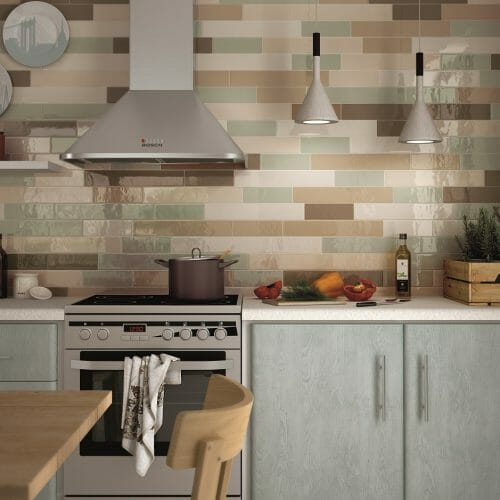 Provence colourful kitchen tiles